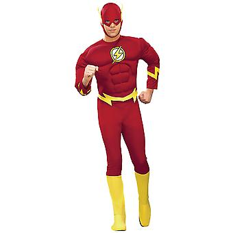 The Flash Justice League DC Comics Deluxe Muscle Superhero Men Costume