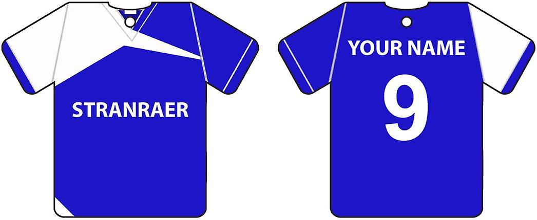 Personalised Stranraer Football Shirt Car Air Freshener