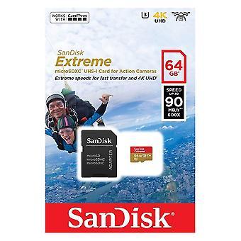 SanDisk 64GB MicroSDXC extrema acción Cam memoria card - SDSQXNE-064G-GN6AA