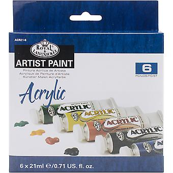Acrylic Paint 21ml 6/Pkg-Assorted Colors ACR21-6