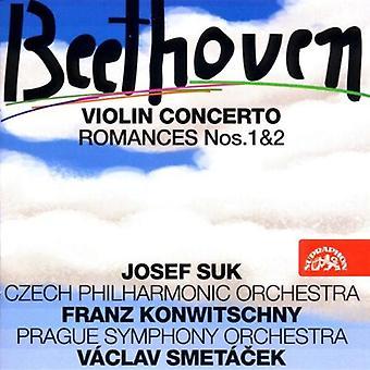 Suk/Knowitschny/Smetacek/Pragu - Beethoven: Concierto para violín; Importación de romances núms. 1 & 2 [CD] Estados Unidos
