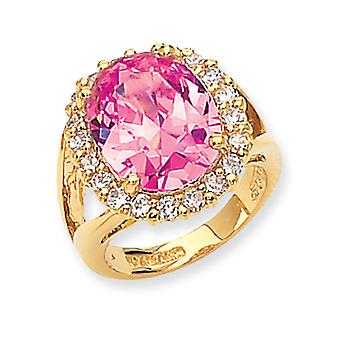 Vermeil Simulated Kunzite Ring - Ring Size: 5 to 10