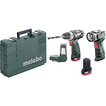 Metabo PowerMaxx BS Basic Set Cordless drill 10.8 V 2 Ah Li-ion incl. spare battery, incl. case