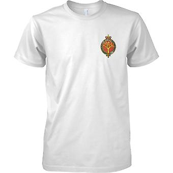 Licensed MOD -  British Army Welsh Guards Insignia - Mens Chest Design T-Shirt
