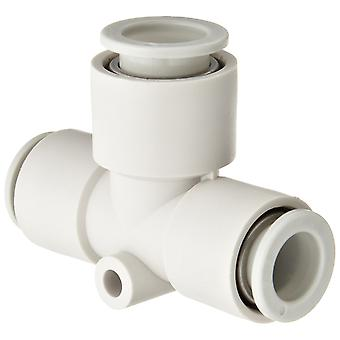 SMC Kq2 Pneumatic Tee Tube-To-Tube Adapter, Push In 4 Mm