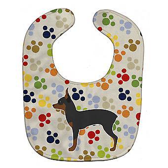 Каролинских сокровища BB6292BIB Игрушка Лисица Собака породы терьер Pawprints ребенок нагрудник