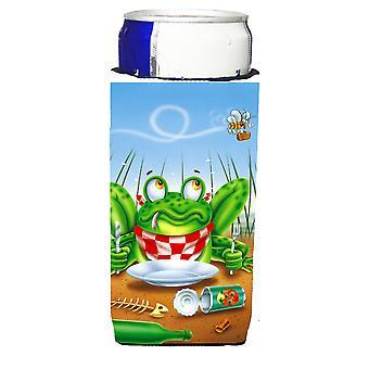 Rana felice piastra Michelob Ultra isolatori di bevanda per lattine slim