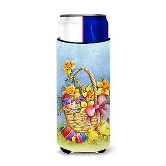 Easter Basket with Flowers Michelob Ultra Hugger for slim cans