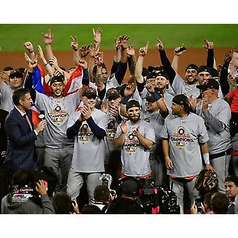 The Houston Astros celebrate winning Game 7 of the 2017 World Series Photo Print