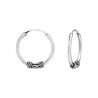 16mm Bali - 925 argent Sterling oreille Hoops