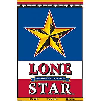 Lone Star Beer Poster Poster Print