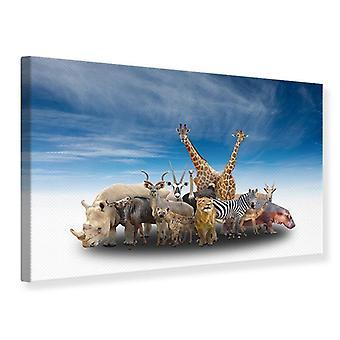 Canvas Print Zoo