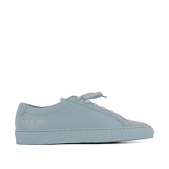 37016011 common projects ladies light blue leather of sneakers