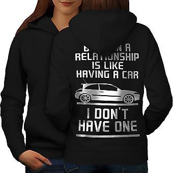 Relationship Car Funny Women BlackHoodie Back | Wellcoda