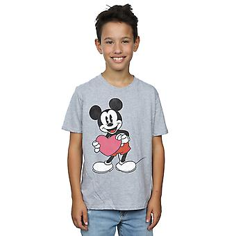 Disney Boys Mickey Mouse Valentine Heart T-Shirt