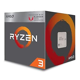 AMD Ryzen 3 2200G CPU with Wraith Cooler, AM4, 3.5GHZ, Quad Core, 65W, 6MB Cache, 14nm, 2nd Gen, VEGA 8 Graphics