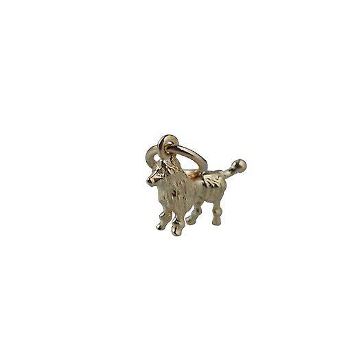 9ct Gold 8x12mm Poodle Pendant or Charm