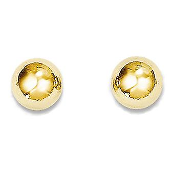 14k Yellow Gold Polished Hollow Ball Stud Earrings
