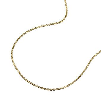 Necklace thin anchor chain 36cm 9k gold