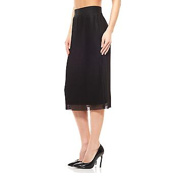 Pleated MIDI skirt black b.c. by heine