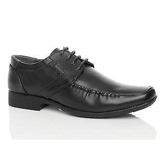 Ajvani mens low heel square toe flexible formal lace up smart work wedding school shoes