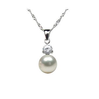 Pendant woman in Silver 925 and culture of water Pearl sweet white