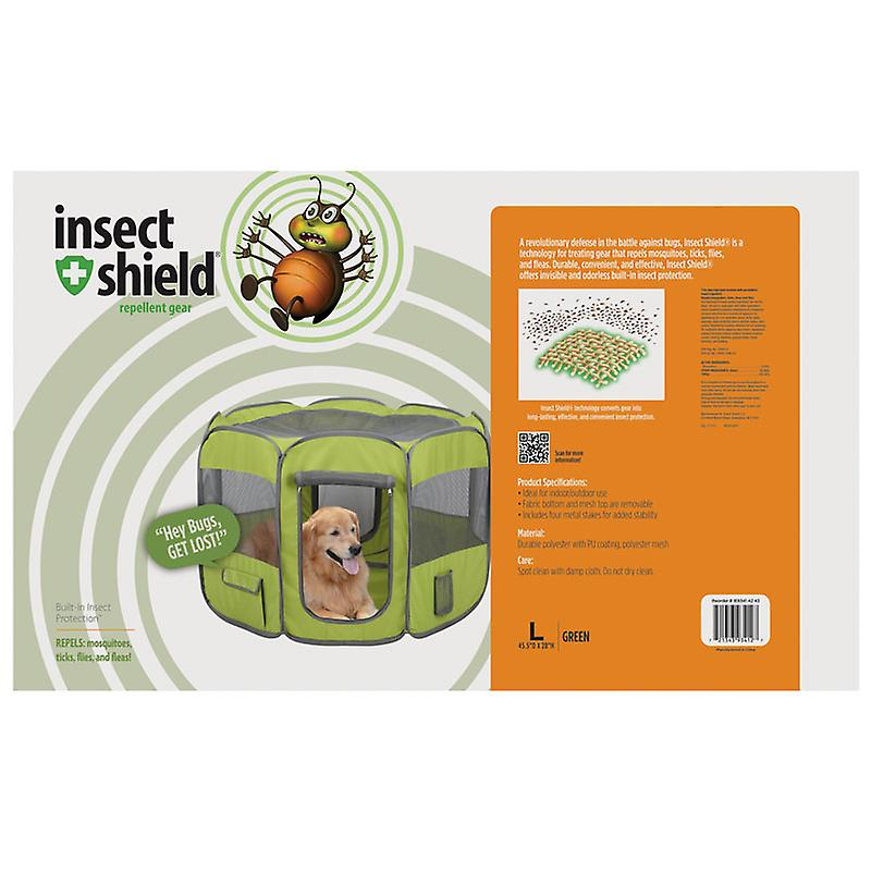 Insect Shield Fabric Play Pen Fern Large