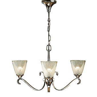 Interiors 1900 63440 Columbia 3 Light Ceiling Fitting In Nickel Finish