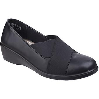 Fleet & Foster Womens/Ladies Limba Slip On Elasticated Court Shoes