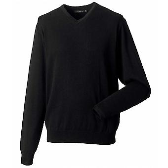 Russell Collection Mens V-neck true knit sweater