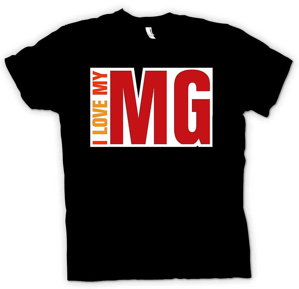 Womens T-shirt - I Love My MG - Car Enthusiast