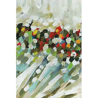 Poppy Swirls Iii Poster Print by Karen Lorena Parker