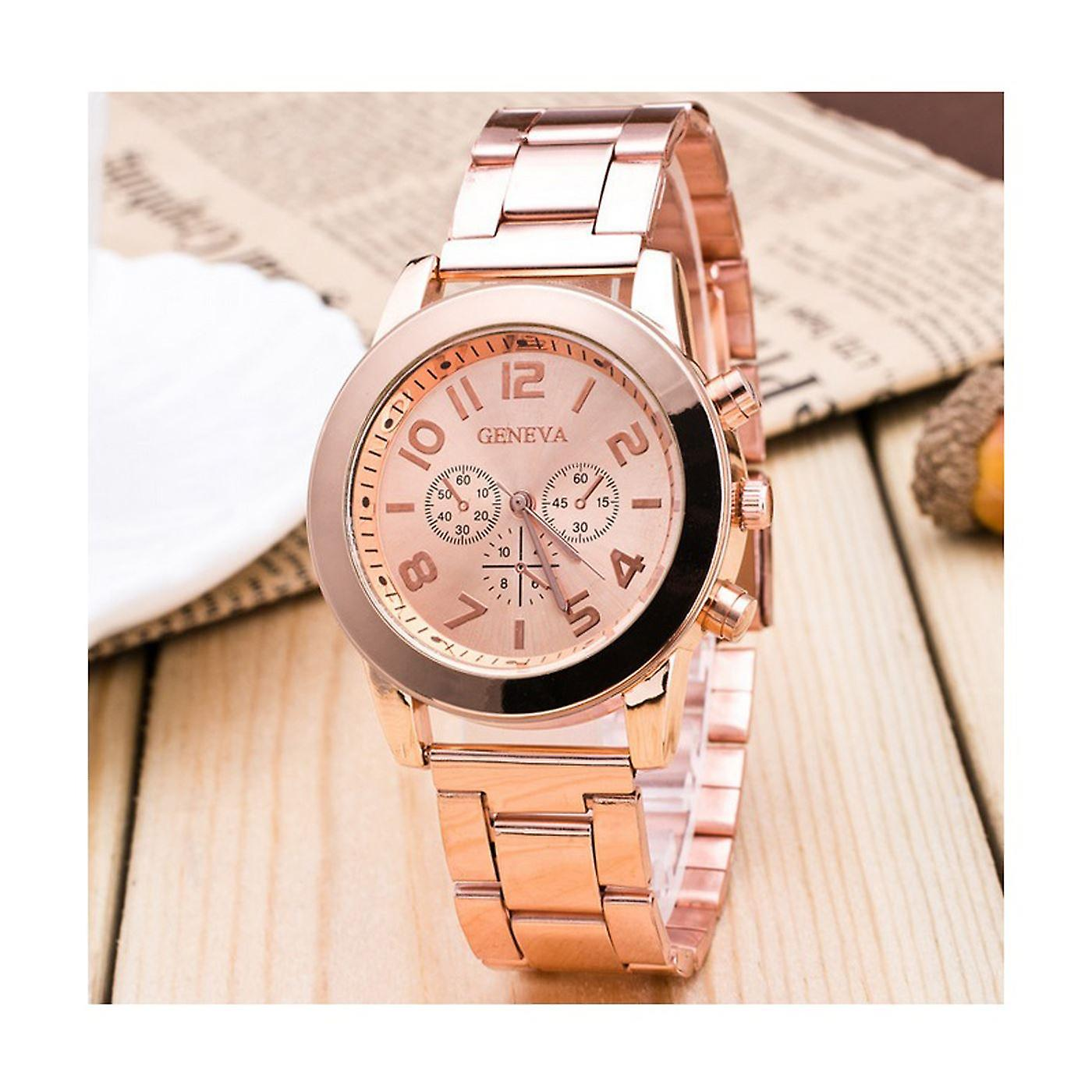Luxury Rose Gold Chrono Watch Numbers Time Elegant Love