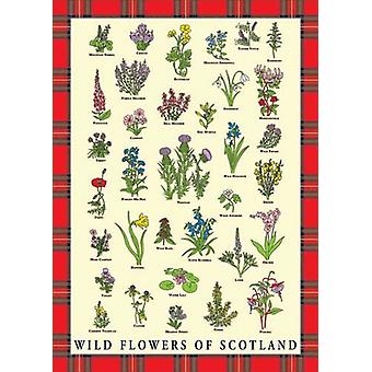 Wild Flowers Of Scotland Geschirrtuch