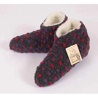 Bed shoes wool dots anthracite 44/45