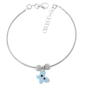 Orphelia Silver 925 Kids ZA-7143 Blue Butterfly Bangle