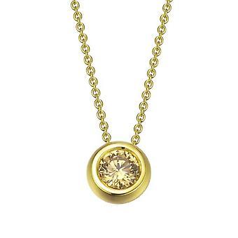 Joop kvinnors kedja halsband silver guld Lana cubic zirconia JPNL90721B420