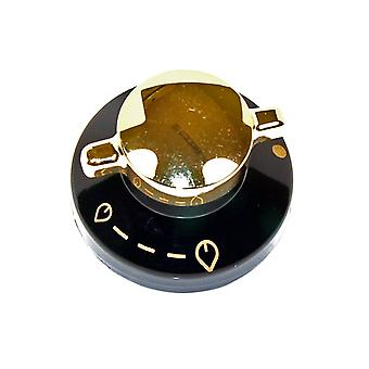 Brændeovne sort & guld Gas komfur drejeknap