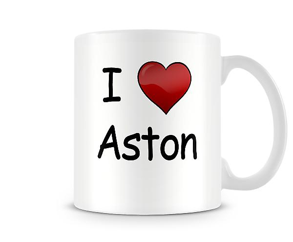 I Love Aston Printed Mug