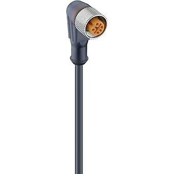 Lumberg Automation 11478 RKWT/LED A 4-3-224/5 M Actuator-Sensor-Connection Cable, M12-Coupler, Angled