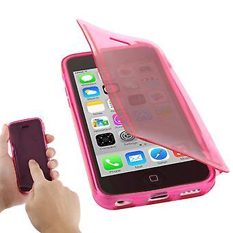 Handyhülle Flip Quer für Handy iPhone 5c pink