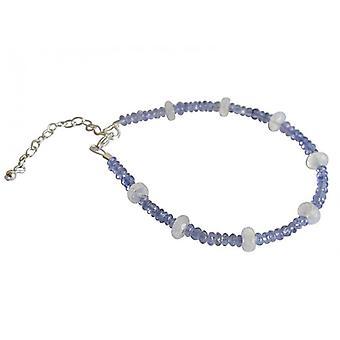 Tanzanite Moonstone armbånd Tanya saksøke 925 sølv armbånd edelstener
