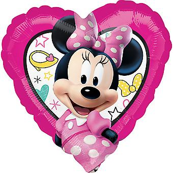 Anagram 18 Inch Minnie Mouse Happy Helper Heart Foil Balloon