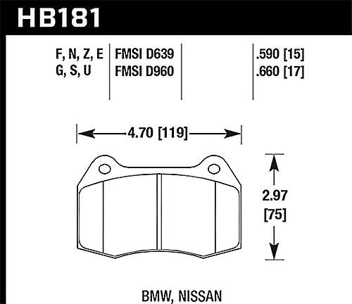 Hawk Performance HB181G.590 Disc Brake Pad