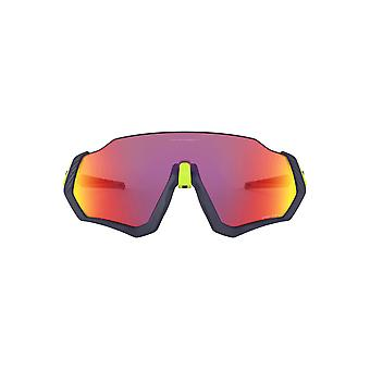 Oakley Flight Jacket Sunglasses In Matte Navy Prizm Road