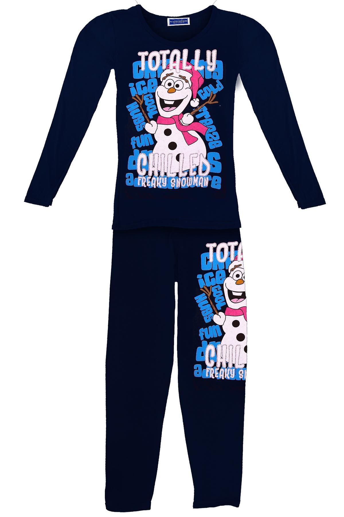 Kinderschneemann Olaf Völlig Chilled Mädchen Gefrorene Weihnachts Pyjamas Suit Set