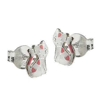 Earrings cat silver 925