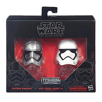 Star Wars B6002 The Force Awakens Black Series Die Cast Phasma & Stormtrooper
