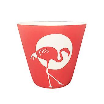 Leichten Glow Kerzenhalter, Flamingo 3 weiß