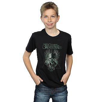 Phantastische Tierwesen Boys die Verbrechen von Grindelwald Zauberstab aufgeteilt-t-Shirt